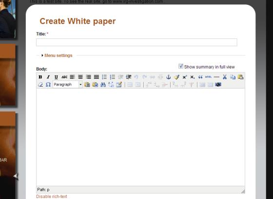 WYSIWYG Editor